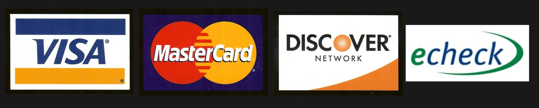 all major credit cards accepted logo. All major credit cards are